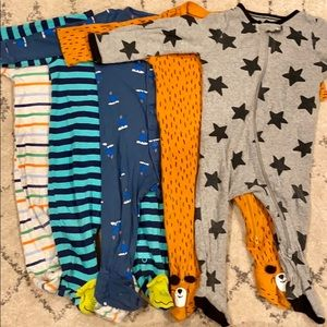 5 Pc Lot Boys Playsuit Footed One Piece Sets 6M 9M